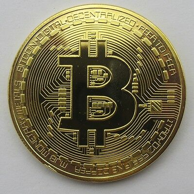 2x  Rare Bitcoin Collectible gift In Stock Golden Iron Commemorative Coin Gifts