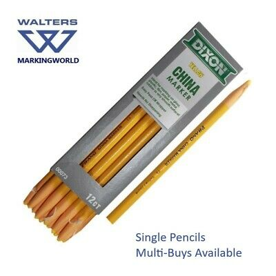 Dixon China Markers Chinagraph Wax Pencils for marking smooth surfaces - Singles 6