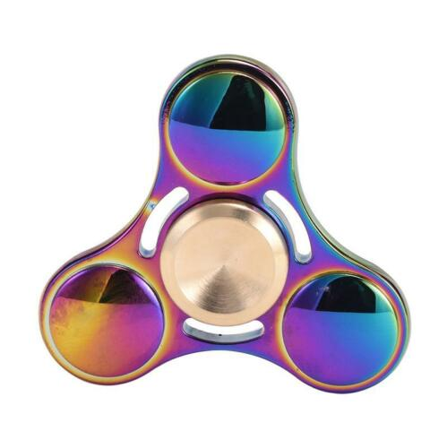 1 Of 11FREE Shipping Rainbow Rose Gold Titanium Alloy EDC Hand Fidget Spinner High Speed Focus Toy