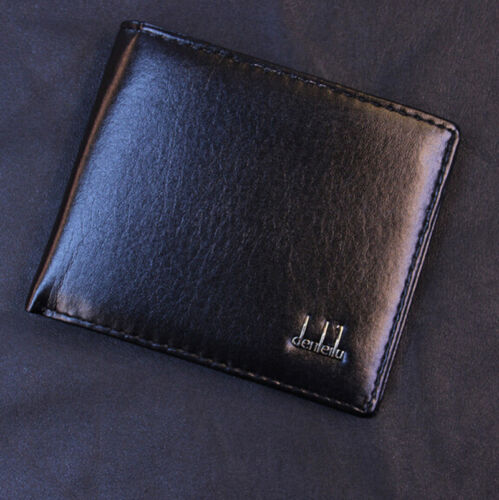 Men's Black Business Leather Wallet Pocket Card Holder Clutch Bifold Slim Purse 3