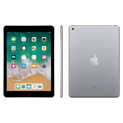 "Apple 9.7"" iPad 6th Gen 128GB Space Gray Wi-Fi MR7J2LL/A 2018 Model 2"