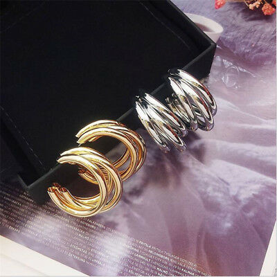 2018 Fashion Large Circle Geometry Metal Earring Ear Stud Earrings Women Jewelry 7