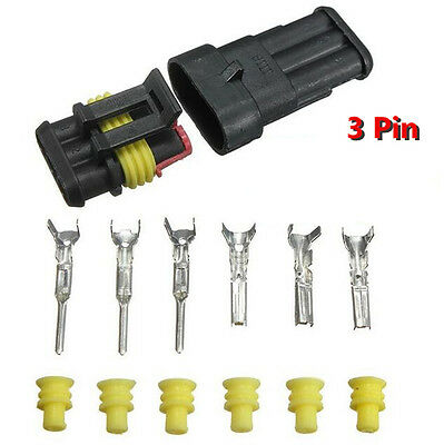 Waterproof Electrical Connector Terminal Car 1/2/3/4/5/6 Pin Wire Way Blade Fuse