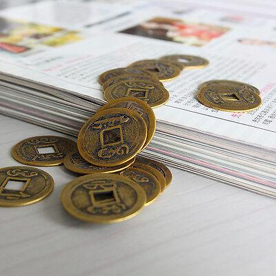 """EW 10pcs Feng Shui Coins 1.00 """"2.3cm moneta fortunata cinese fortuna I Ch ie 6"""