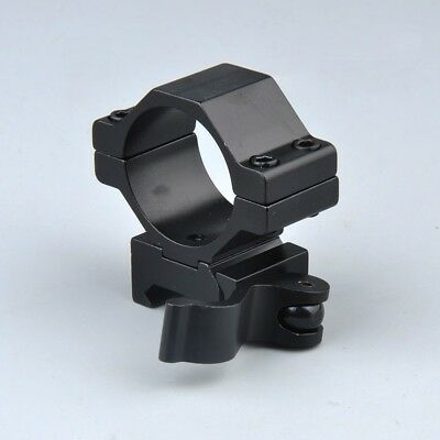 "1"" 30mm Ring QD Scope Mount Low Profile 20mm Picatinny Rail&inserts for hunting 3"