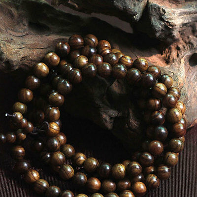 Fragrant Black rosewood108 8MM Buddhist Prayer Bead Mala Necklace/BraceleSN 2
