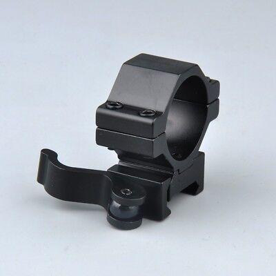 "1"" 30mm Ring QD Scope Mount Low Profile 20mm Picatinny Rail&inserts for hunting 7"
