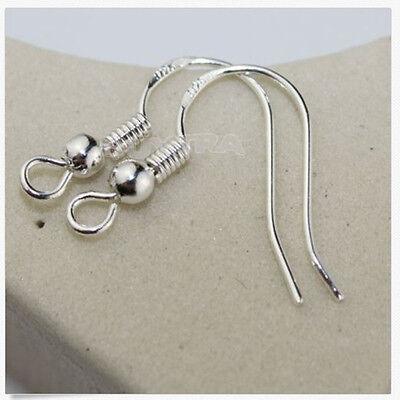 100pcs Silvering boucle d'oreille crochet boucle boucles d'oreilles résultatsRD 2