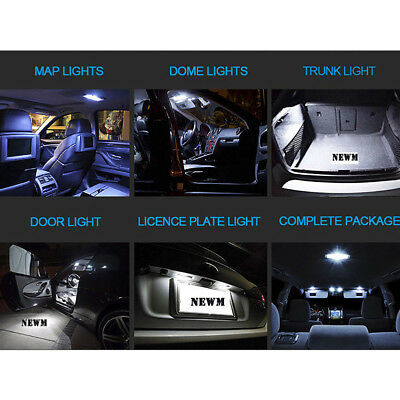 23x Canbus LED Car Interior Inside Light Dome Trunk Map License Plate Lamp Bulb 10