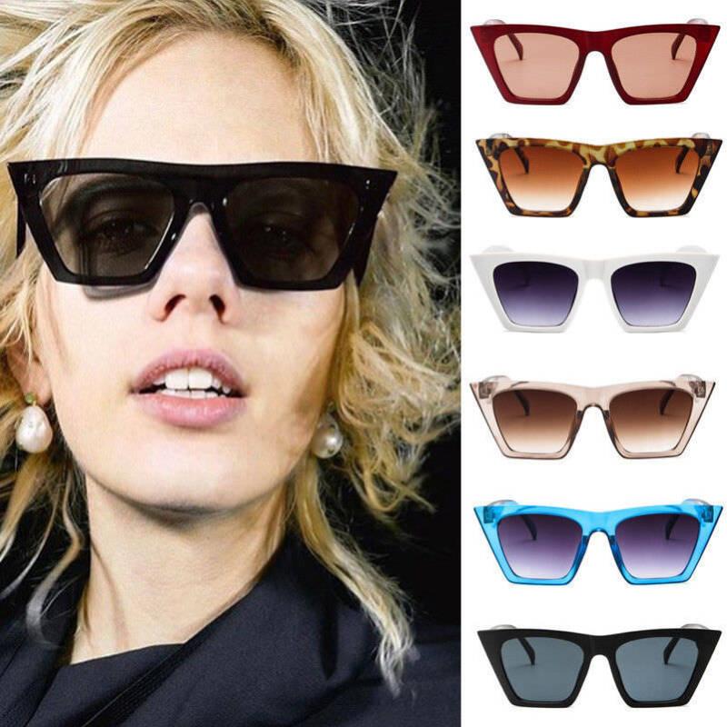 2018 Vintage Retro Women Square Sunglasses Fashion Shades Oversized Glasses Hot 2