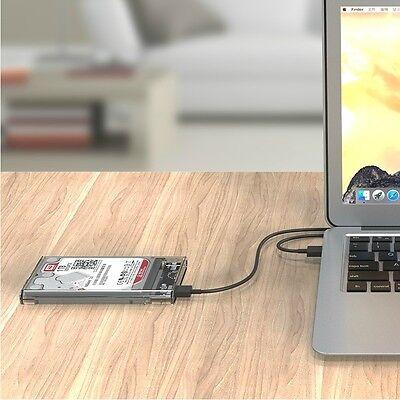 "ORICO ORICO USB 3 Transparent 2.5"" SATA SSD HDD Hard Disk Drive Enclosure Case"