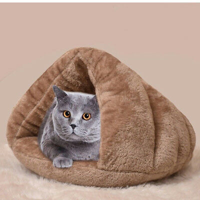 Pet Cat Dog House Kennel Puppy Cave Sleeping Bed Super Soft Mat Pad Warm Nest 8