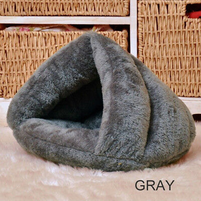 Pet Cat Dog House Kennel Puppy Cave Sleeping Bed Super Soft Mat Pad Warm Nest 3