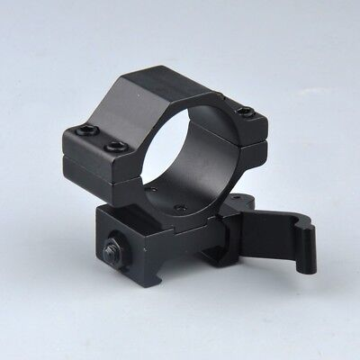 "1"" 30mm Ring QD Scope Mount Low Profile 20mm Picatinny Rail&inserts for hunting 6"