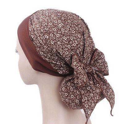Women Cancer Hat Chemo Pirate Cap Muslim Hair Loss Head Scarf Turban Head Wrap 11