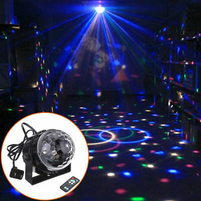 RGB LED Effect Disco Light Stage DJ Laser Crystal Magic Ball Lights Club Party 2