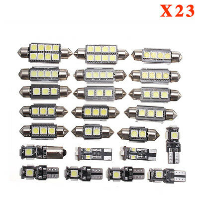 23x Canbus LED Car Interior Inside Light Dome Trunk Map License Plate Lamp Bulb 2