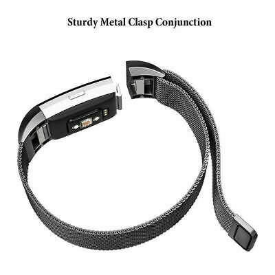 For Fitbit Charge 2 Band  Stainless Steel Metal Milanese  Loop Wristband strap 5
