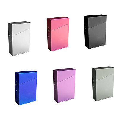 Gift Magnetic Aluminum Pocket Cigarette Cigar Tobacco  Box Case -Multicolor ME 2