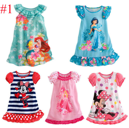 Kid Baby Girl Nightdress Summer Princess Pajamas Nightwear Nightie Nightgown New 2