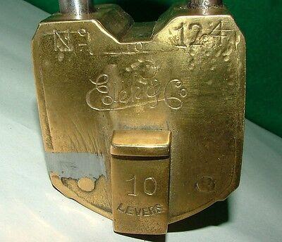 Eder & Co   10 Lever Brass Padlock,  No Key 5