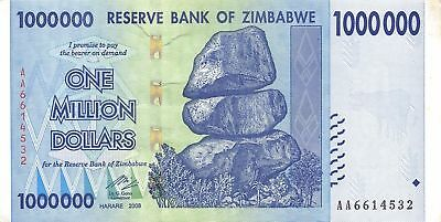 1 Million Zimbabwe Dollar Uncirculated Money Currency 10 20 50 100 Trillion