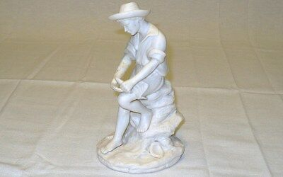 "REG JOHNSON & Sons Figurine FISHER BOY Made in England 7"" x 4"" (178 mm x 102 mm) 5"