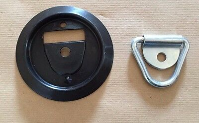 10 Tie Down Lashing Rings & Base Stable Horsebox Trailer Ifor Williams Van Hook