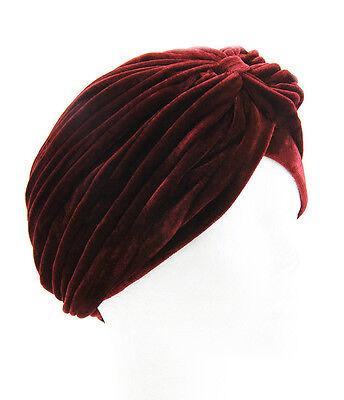 Stretchy Ladies Turban Plain/Velvet Pleated Head Band Hair Cover Chemo Cloche B3 3