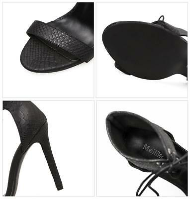 Ladies Open-Toe High Heels Stiletto Shoes Sexy Women Ankle Cross Lace Up Sandals 4