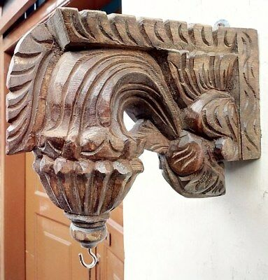 Wall Hanging Corbel Pair Wooden Bracket used for hanging lamp bell Diwali Gift 3