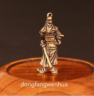 China Bronze Copper Fengshui  Guan Gong Yu Warrior God Immortal Pendant Amulet 2