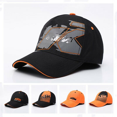 Adjustable KTM03 Motorcycle Racing Cap Cotton Embroidery Sport Mens Hat BLACK 2