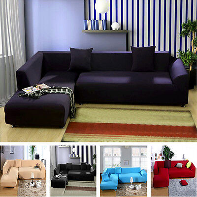 L-Shape Sofa Removable Stretch Sofa Slipcover Couch Pillow Covers 5 Colors  UDW US STOCK,1 Day Shipping!