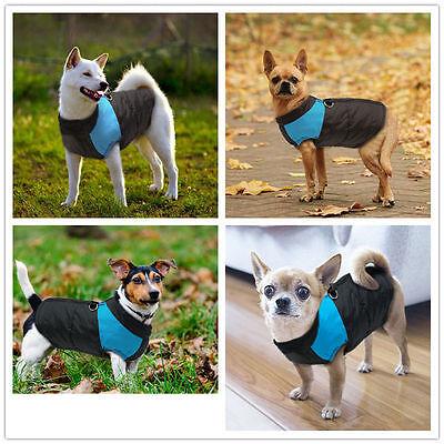 Waterproof Pet Dog Clothes Autumn Winter Warm Padded Coat Vest Jacket Apparel