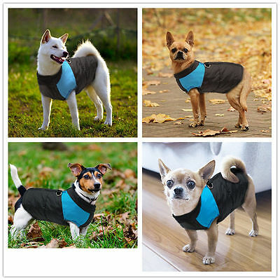 Waterproof Pet Dog Warm Padded Vest Coat Clothes Puppy Winter Jacket Apparel UK 7