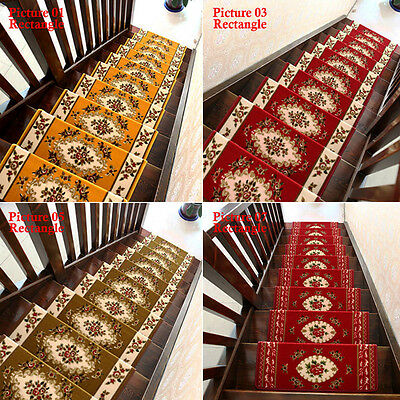... Home 13 Steps Area Rug Floral Stair Treads Carpet Mat Non Slip Rugs  Staircase SH