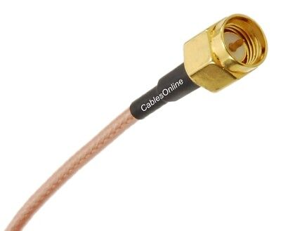 SMA Male to TNC Male 50-Ohm RG316 Coax Low Loss Jumper RF Cable 2
