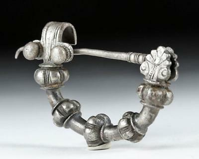 Rare Classical Greek Silver Fibula - 48.3 g Lot 11B