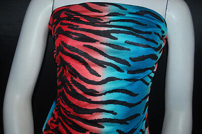 Modal 100/% Knit Jersey Fabric Ecofriendly Multicolor Zebra Print 6oz Semisheer