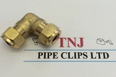 6, 8, 10, 12, 15, 22&28mm Brass Compression Fittings-Straight Elbow Tee Coupling 3