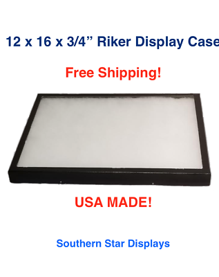 Riker Display Case 12 x 16 x 3/4 for Collectibles Jewelry Arrowheads & More
