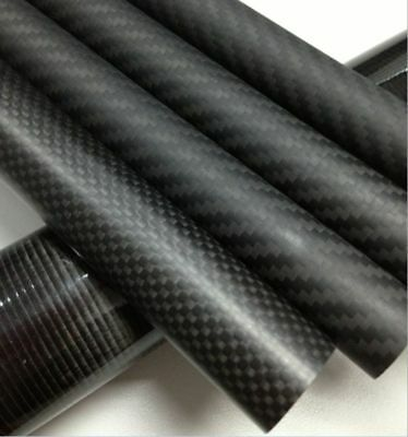 OD 50MM ID 44mm ID 46mm ID 47mm ID48mm X 500MM 3K Carbon Fiber Tube Roll Wrapped
