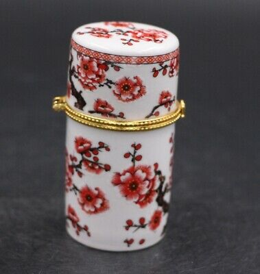 Chinese Porcelain plum blossom Toothpick Box Holder Storage Lucky Jewelry Box 4