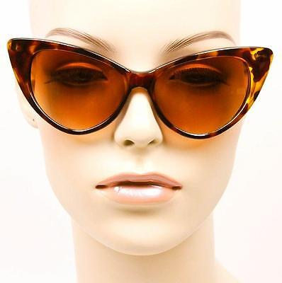 b5bbfd781b ... Large Cat Eye Thin Frame Hot Pin Up Nikita Rockabilly Fashion  Sunglasses Glasses 4