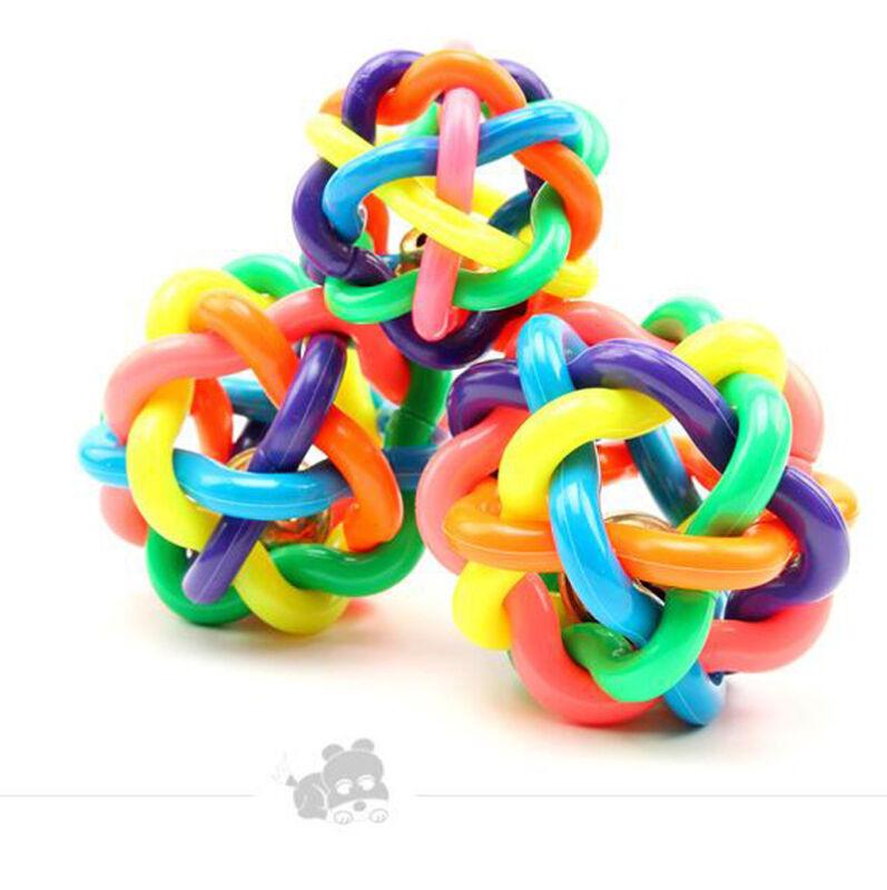 Puppy Pet Dog Colorful Dental Teething Healthy Teeth Chew Training Play Ball Toy 5