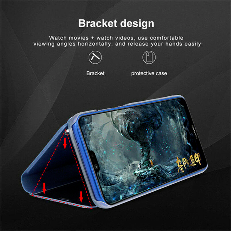 For Samsung Galaxy J3 J5 J7 2016 2017 Smart Mirror Leather Flip Stand Case Cover 9