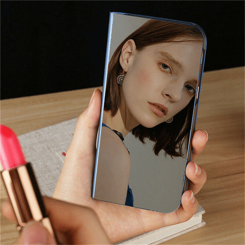 For Samsung Galaxy S9/S8 S10 Plus Note 8/9 Smart Mirror View Flip Case Stand Cov 10