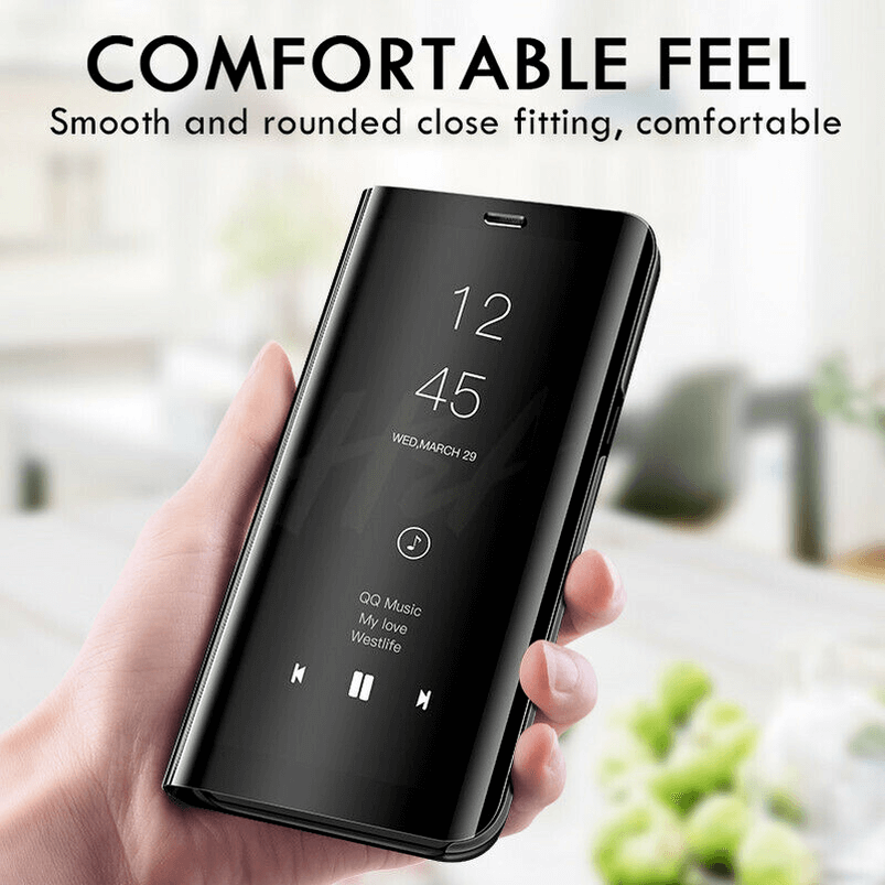 For Samsung Galaxy S9/S8 S10 Plus Note 8/9 Smart Mirror View Flip Case Stand Cov 11