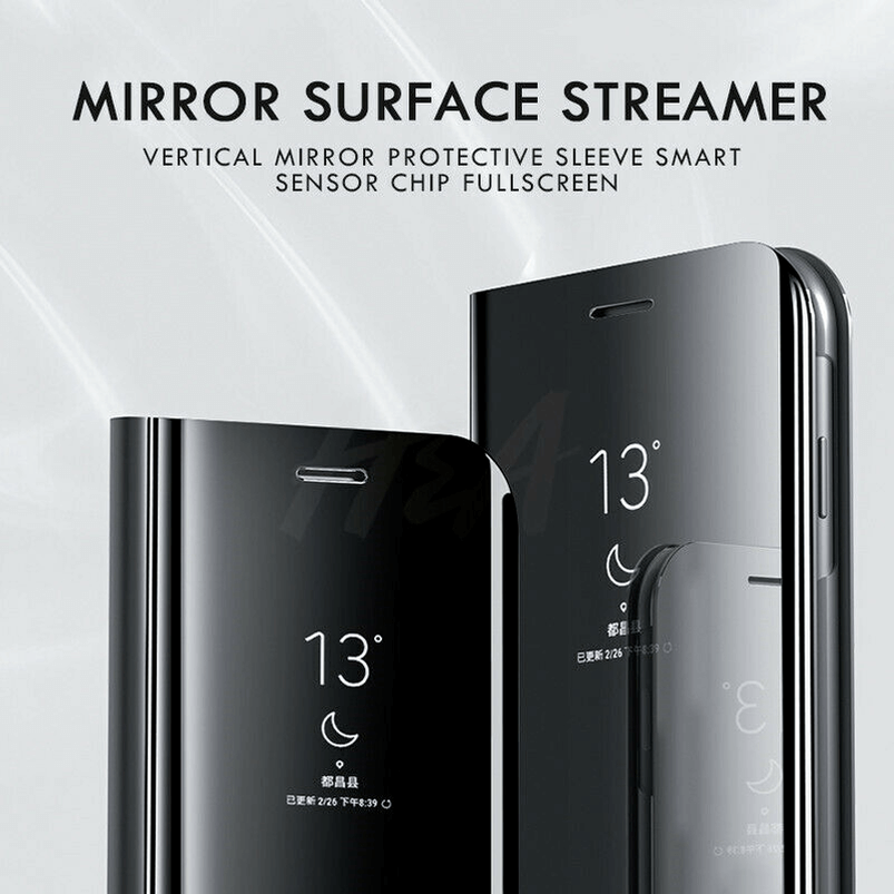 For Samsung Galaxy S9/S8 S10 Plus Note 8/9 Smart Mirror View Flip Case Stand Cov 6